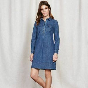 Boden Denim Jean Shirt Dress WW094 Sz UK 10P NWT